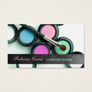 Cartes De Visite maquilleur de cosmétiques de fard à paupières de