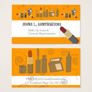 Cartes De Visite Maquilleur incliné de Cosmetologist de Muc de