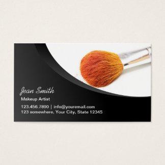 Cartes De Visite Maquilleur moderne de brosse de cosmétiques