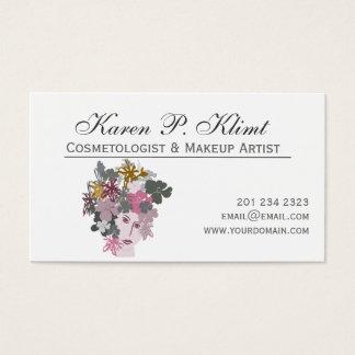 Cartes De Visite Maquilleur principal floral de Ressort-Domestique