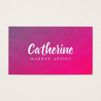 Cartes De Visite Maquilleur rose pourpre de texture élégante