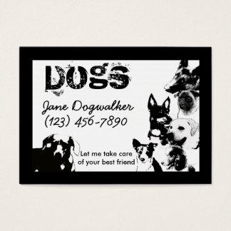 Cartes De Visite marcheur de chien
