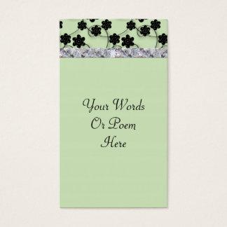 Cartes De Visite Mariage vert et noir en bon état de miroitement de