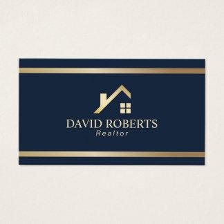 Cartes De Visite Marine moderne d'agent immobilier d'immobiliers de