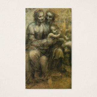 Cartes De Visite Mary, le Christ, St Anne, et St John par Davinci