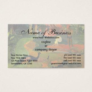 Cartes De Visite Matamoe (paons de paysage W) par Paul Gauguin