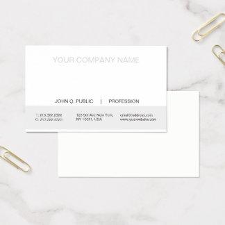Cartes De Visite Matte blanche et grise professionnelle moderne