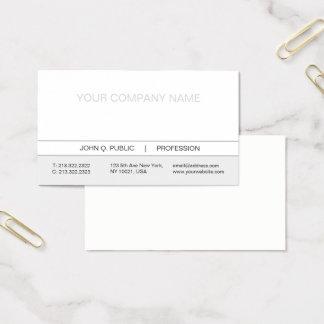 Cartes De Visite Matte blanche et grise professionnelle simple