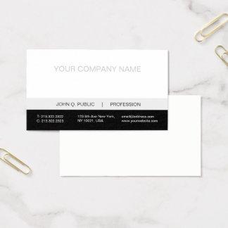 Cartes De Visite Matte grise blanche noire professionnelle moderne
