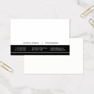 Cartes De Visite Matte noire et blanche professionnelle moderne