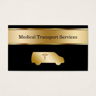 Cartes de visite médicaux de transport