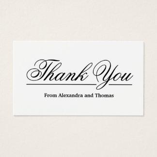 Cartes De Visite Merci élégant simple