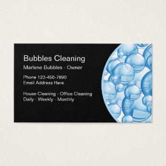 Cartes De Visite Message publicitaire résidentiel de service de