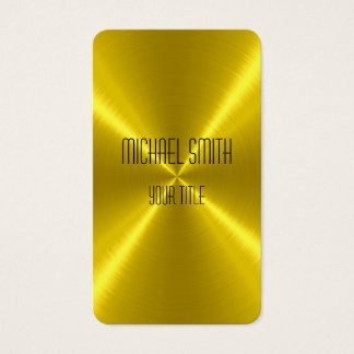 Cartes De Visite Métal d'acier d'or