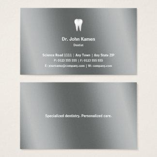 Cartes De Visite Métallique graphique classique du dentiste |