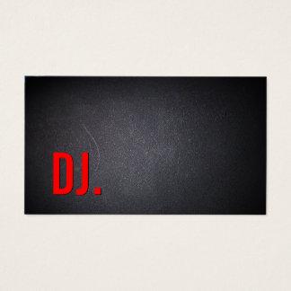 Cartes De Visite Minimaliste foncé élégant de caractères gras