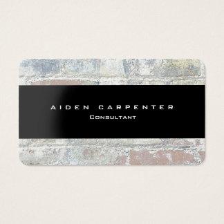 Cartes De Visite Minimaliste moderne de style de noir gris