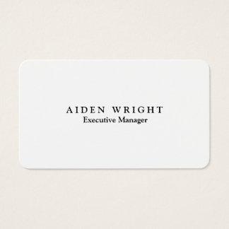 Cartes De Visite Minimaliste moderne élégant à la mode attirant