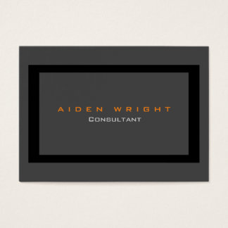 Cartes De Visite Minimaliste moderne élégant noir gris attirant