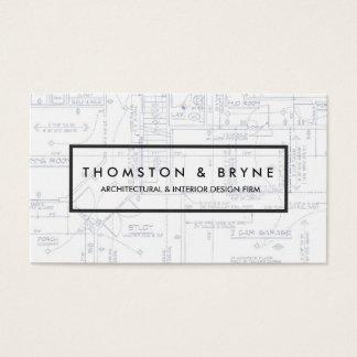 Cartes De Visite Modèle à la maison de construction et d'architecte