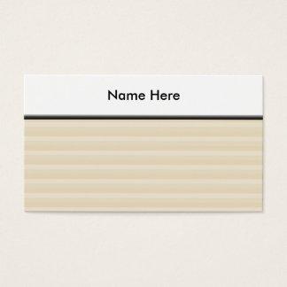 Cartes De Visite Modèle bronzage beige de rayure de couleur