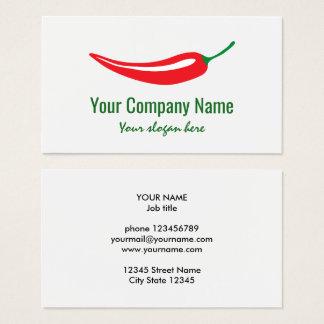 Cartes De Visite Modèle de logo de société de poivre de piment