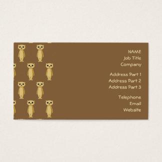 Cartes De Visite Modèle de Meerkat