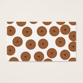Cartes De Visite Modèle de petit gâteau de chocolat