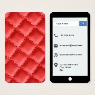 Cartes De Visite Modèle de style d'iPhone de texture piqué par