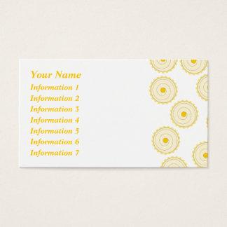 Cartes De Visite Modèle jaune de petit gâteau