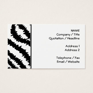 Cartes De Visite Modèle noir d'impression de zèbre