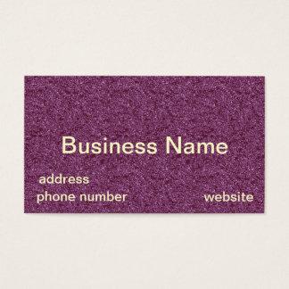 Cartes De Visite Modèle pourpre de Businesscards de scintillement