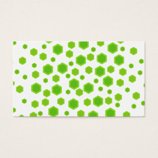 Cartes De Visite Modèle vert d'hexagones