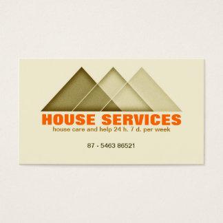 Cartes De Visite moder d'agent immobilier d'entretien de