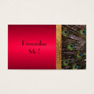 Cartes De Visite Moderne élégant de paon à la mode/Maison-de-Grosch
