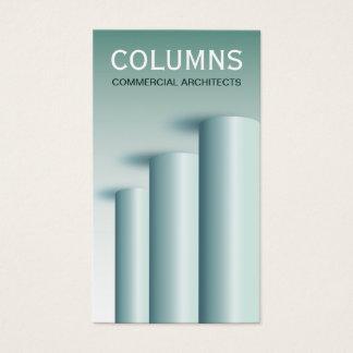 Cartes de visite modernes d'architecte de colonnes