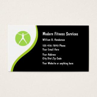 Cartes de visite modernes de forme physique