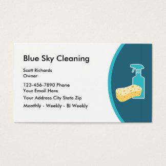 Cartes de visite modernes de nettoyage