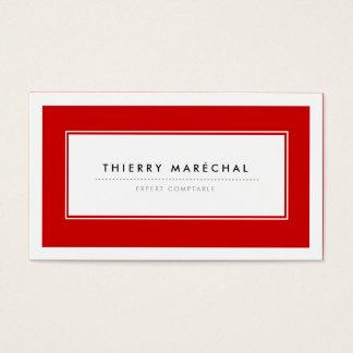 Cartes de Visite Modernes Rouge Visitekaartjes