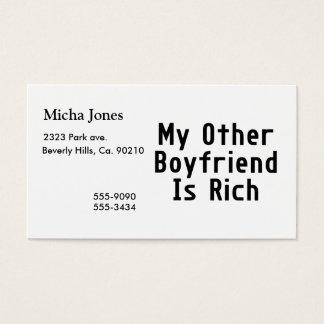 Cartes De Visite Mon autre ami est riche
