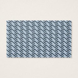 Cartes De Visite Monogramme bleu frais de motif de Chevron