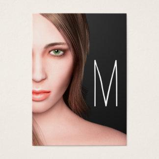 Cartes De Visite Monogramme de fille de mode