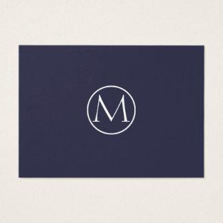 Cartes De Visite Monogramme élégant d'indigo