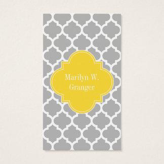 Cartes De Visite Monogramme marocain de nom de l'ananas #5 de blanc