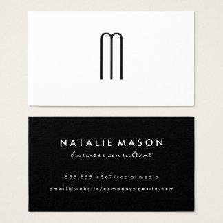 Cartes De Visite Monogramme minimaliste moderne