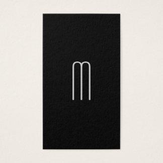 Cartes De Visite Monogramme minimaliste moderne sur le noir