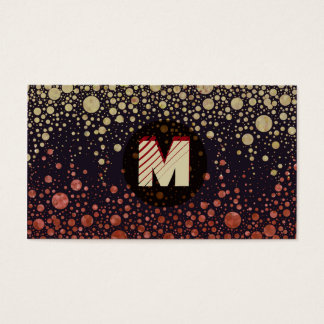 Cartes De Visite Monogramme moderne (personnaliser)
