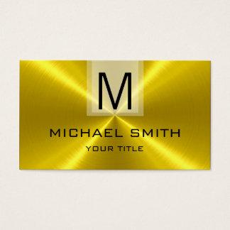 Cartes De Visite Monogramme professionnel en métal d'acier