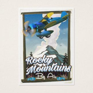 Cartes De Visite Montagnes rocheuses par avion !