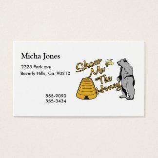 Cartes De Visite Montrez-moi le miel